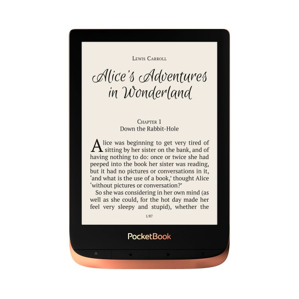 Pocketbook touch 3 hd cobre picante e-book libro electrónico 6'' e-ink wifi 16gb