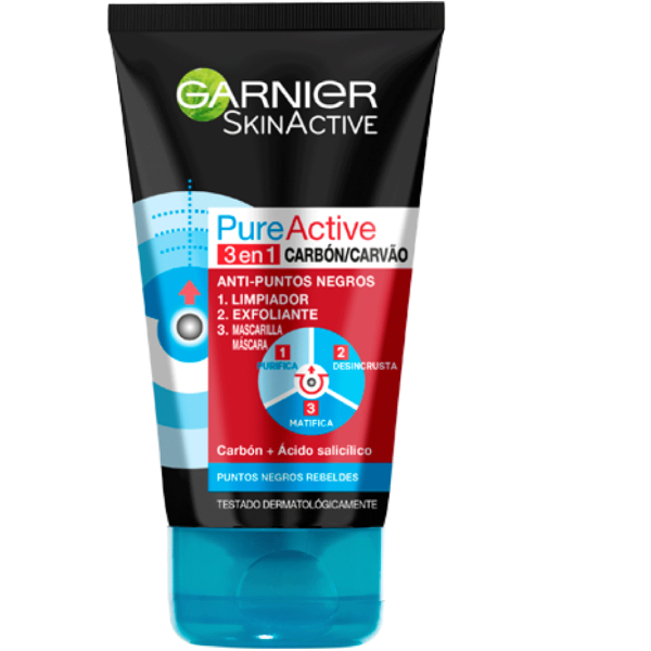 Garnier Pure Active 3en1 Carbón 150 ml