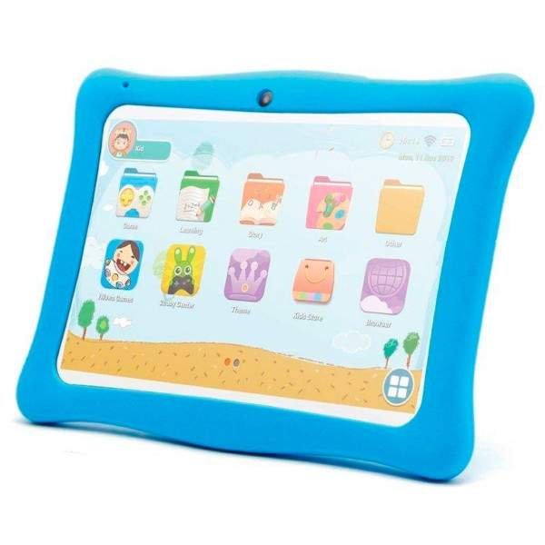 Innjoo kids tab blanca tablet wifi 10'' ips protector azul tft quadcore 16gb 1gb ram cam 2mp selfies 0.3mp